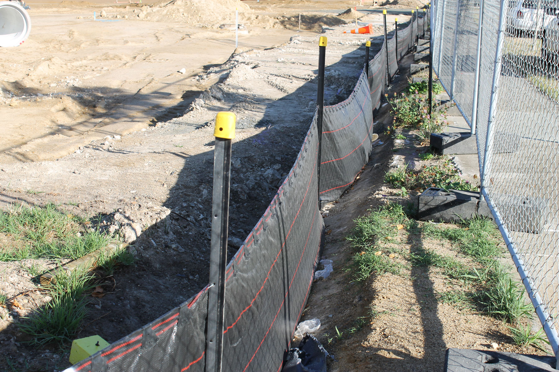 Y Posts and Silt Fence