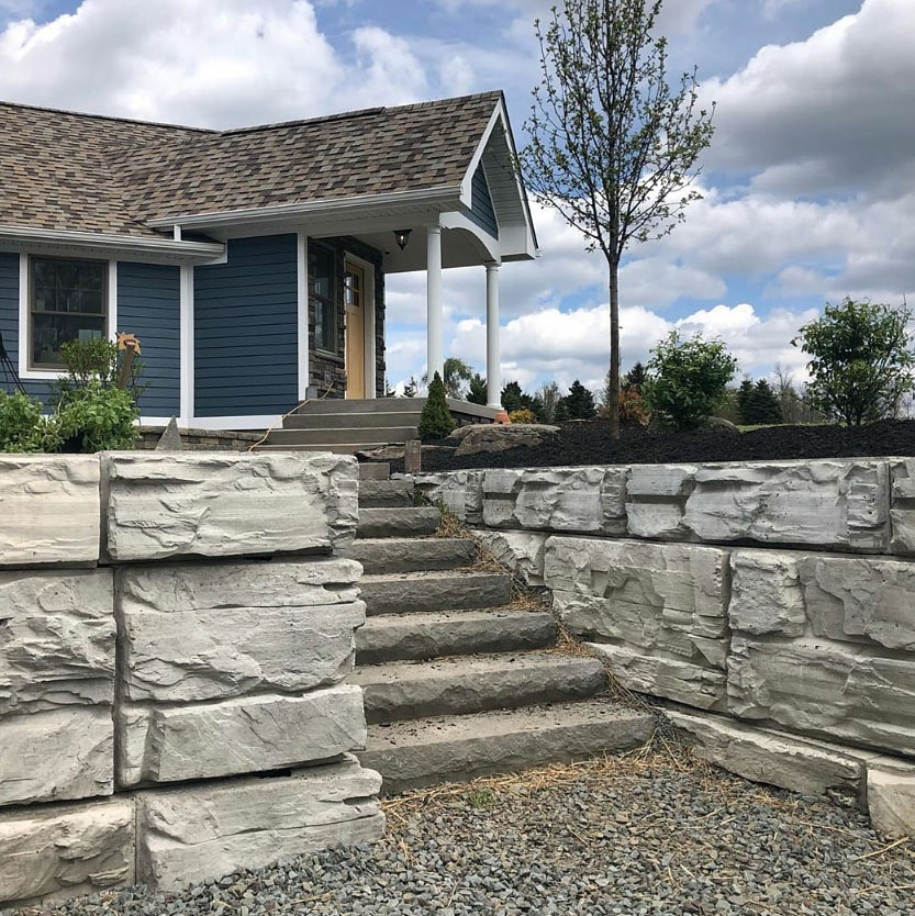 MagnumStone Driveway Retaining Wall